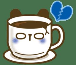 Cute panda cake sticker #5062465