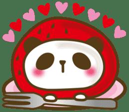 Cute panda cake sticker #5062466