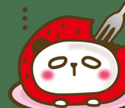 Cute panda cake sticker #5062467