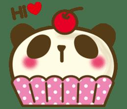 Cute panda cake sticker #5062468