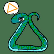 Cute? Snake Sticker sticker #5065769