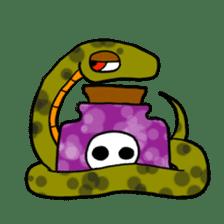 Cute? Snake Sticker sticker #5065777