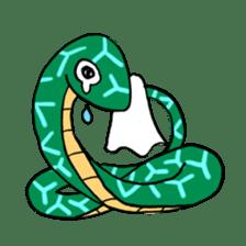 Cute? Snake Sticker sticker #5065787