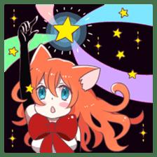 A Magic Cat Girl sticker #5066155