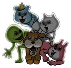 Dear animal costume sticker #5069488