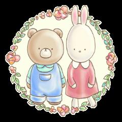 Cute bear and rabbit by Torataro