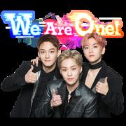 สติ๊กเกอร์ไลน์ EXO-CBX Song Stickers