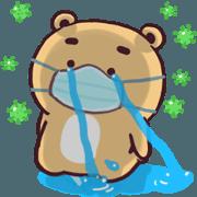 สติ๊กเกอร์ไลน์ N9: หมีหงุดหงิด ต้านภัยโควิด
