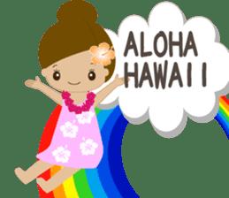I LOVE HAWAII sticker #5096560