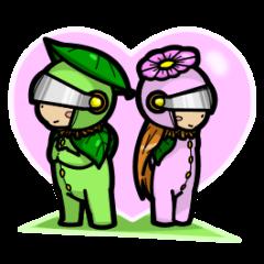 En - kun & Yukari-chan sticker