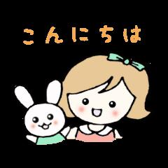 Rabbit and girls
