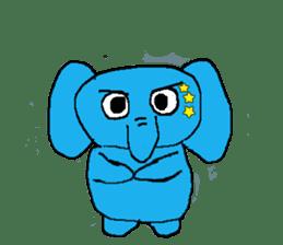The elephant to be happy2 (World) sticker #5103271