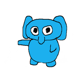 The elephant to be happy2 (World) sticker #5103274