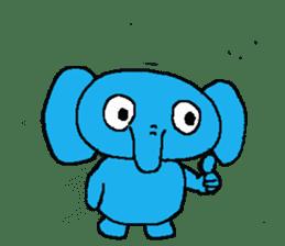 The elephant to be happy2 (World) sticker #5103275