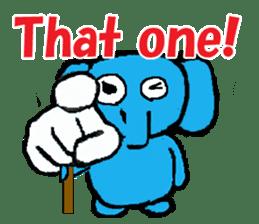 The elephant to be happy2 (World) sticker #5103278