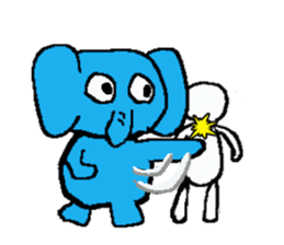 The elephant to be happy2 (World) sticker #5103283