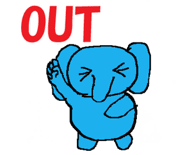 The elephant to be happy2 (World) sticker #5103286