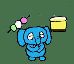 The elephant to be happy2 (World) sticker #5103292