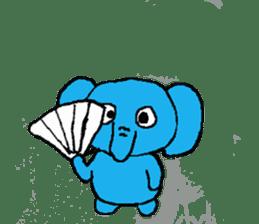 The elephant to be happy2 (World) sticker #5103294