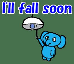 The elephant to be happy2 (World) sticker #5103308
