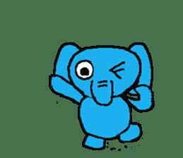 The elephant to be happy2 (World) sticker #5103309