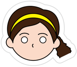 The side ponytail girl sticker #5103511