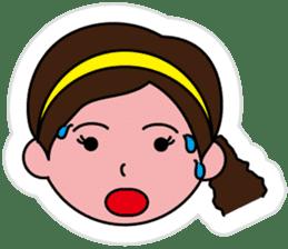 The side ponytail girl sticker #5103514