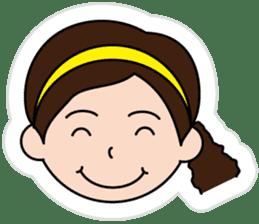 The side ponytail girl sticker #5103515