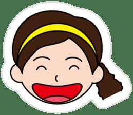 The side ponytail girl sticker #5103521