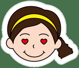 The side ponytail girl sticker #5103522