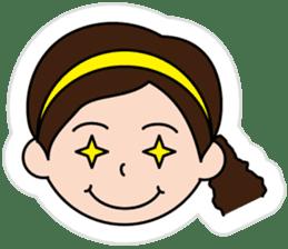 The side ponytail girl sticker #5103523