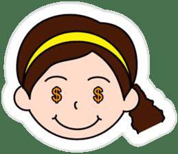 The side ponytail girl sticker #5103524
