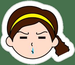 The side ponytail girl sticker #5103528