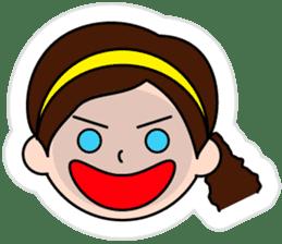 The side ponytail girl sticker #5103531
