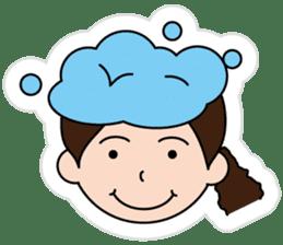 The side ponytail girl sticker #5103533