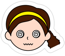 The side ponytail girl sticker #5103534