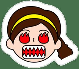 The side ponytail girl sticker #5103535