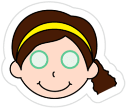 The side ponytail girl sticker #5103538