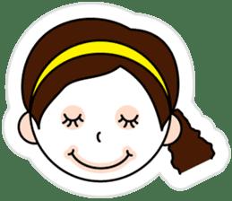 The side ponytail girl sticker #5103539