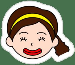 The side ponytail girl sticker #5103540