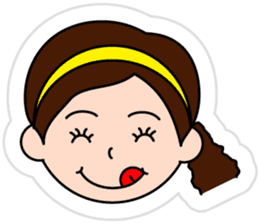 The side ponytail girl sticker #5103544