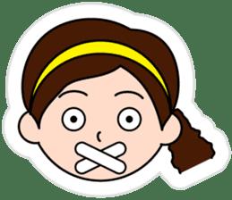 The side ponytail girl sticker #5103545