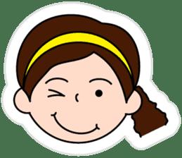 The side ponytail girl sticker #5103546