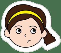 The side ponytail girl sticker #5103547