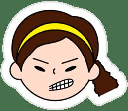 The side ponytail girl sticker #5103548
