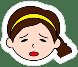 The side ponytail girl sticker #5103549