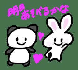 Pan-chan and Usa-pin sticker #5107623