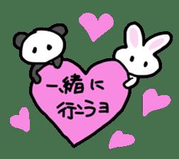 Pan-chan and Usa-pin sticker #5107624
