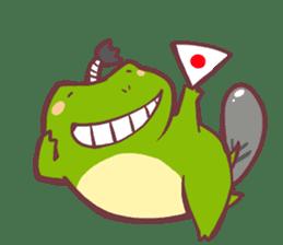 Chicken and frog sticker #5109428