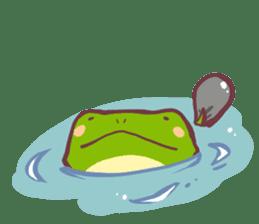 Chicken and frog sticker #5109430
